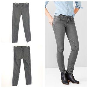 Gap 1969 Always Skinny Gray Moto Jeans